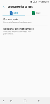 Como selecionar o tipo de rede adequada - Samsung Galaxy J6 - Passo 7