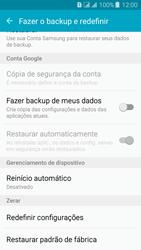 Como restaurar as configurações originais do seu aparelho - Samsung Galaxy J3 Duos - Passo 5