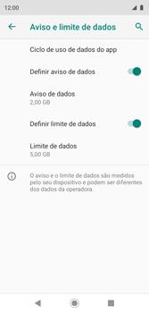 Como definir um aviso e limite de uso de dados - Motorola Moto G7 Play - Passo 13