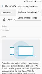 Como usar seu aparelho como um roteador de rede Wi-Fi - Samsung Galaxy J2 Prime - Passo 7