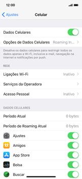 Como ativar e desativar uma rede de dados - Apple iPhone X - Passo 3