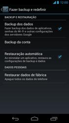 Como restaurar as configurações originais do seu aparelho - Motorola Moto X (1ª Geração) - Passo 5