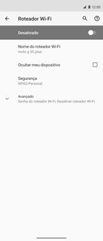 Como usar seu aparelho como um roteador de rede Wi-Fi - Motorola Moto G 5G Plus - Passo 6