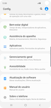 Como encontrar o número de IMEI do seu aparelho - Samsung Galaxy S10 - Passo 3