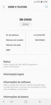 Como encontrar o número de IMEI do seu aparelho - Samsung Galaxy S9 - Passo 4