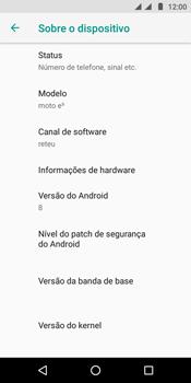Como encontrar o número de IMEI do seu aparelho - Motorola Moto E5 - Passo 5