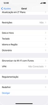 Como restaurar as configurações originais do seu aparelho - Apple iPhone X - Passo 4