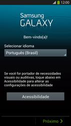 Como configurar pela primeira vez - Samsung Galaxy S IV - Passo 2