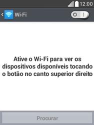 Como configurar uma rede Wi-Fi - LG L20 - Passo 5