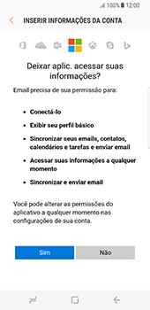 Como configurar seu celular para receber e enviar e-mails - Samsung Galaxy S8 - Passo 9