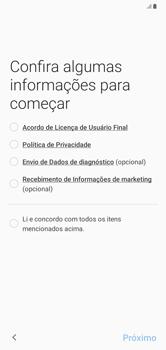 Como configurar pela primeira vez - Samsung Galaxy A10 - Passo 4