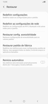 Como restaurar as configurações originais do seu aparelho - Samsung Galaxy A20 - Passo 6