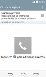Como bloquear chamadas de um número específico - LG F60 - Passo 7
