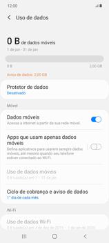 Como definir um aviso e limite de uso de dados - Samsung Galaxy Note 20 5G - Passo 5