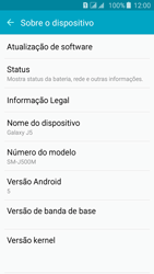 Como encontrar o número de IMEI do seu aparelho - Samsung Galaxy J5 - Passo 4