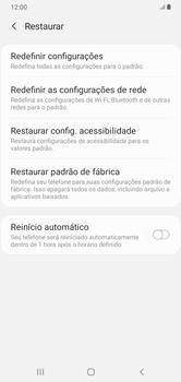 Como restaurar as configurações originais do seu aparelho - Samsung Galaxy A10 - Passo 6