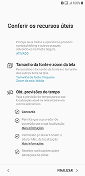 Como configurar pela primeira vez - Samsung Galaxy J6 - Passo 19