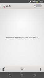 Como configurar uma rede Wi-Fi - Sony Xperia SP - Passo 4