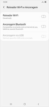 Como usar seu aparelho como um roteador de rede Wi-Fi - Samsung Galaxy A50 - Passo 5