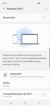 Como usar seu aparelho como um roteador de rede Wi-Fi - Samsung Galaxy S10 - Passo 7