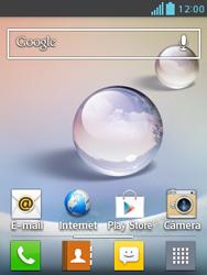Como configurar seu celular para receber e enviar e-mails - LG Optimus L3 II - Passo 1