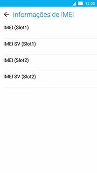 Como encontrar o número de IMEI do seu aparelho - Asus ZenFone Go - Passo 6