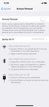 Como usar seu aparelho como um roteador de rede Wi-Fi - Apple iPhone X - Passo 3