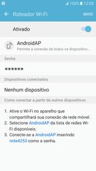 Como usar seu aparelho como um roteador de rede Wi-Fi - Samsung Galaxy S7 - Passo 11