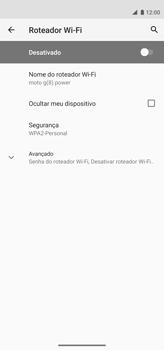 Como usar seu aparelho como um roteador de rede Wi-Fi - Motorola Moto G8 Power - Passo 8
