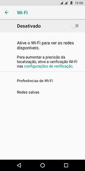 Como configurar uma rede Wi-Fi - Motorola Moto E5 - Passo 5