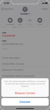 Como bloquear chamadas de um número específico - Apple iPhone X - Passo 6