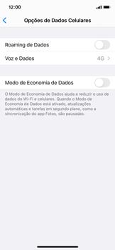 Como ativar e desativar o roaming de dados - Apple iPhone 11 Pro - Passo 4