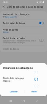 Como definir um aviso e limite de uso de dados - Samsung Galaxy S21 Ultra 5G - Passo 7