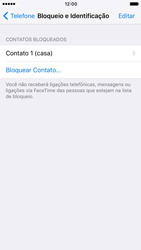 Como bloquear chamadas de um número específico - Apple iPhone 7 - Passo 7