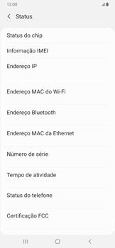 Como encontrar o número de IMEI do seu aparelho - Samsung Galaxy A20 - Passo 5