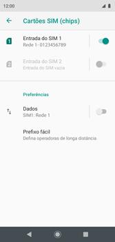 Como ativar e desativar uma rede de dados - Motorola Moto G7 Play - Passo 7