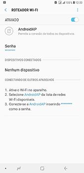 Como usar seu aparelho como um roteador de rede Wi-Fi - Samsung Galaxy J8 - Passo 11