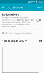 Como ativar e desativar uma rede de dados - Samsung Galaxy J1 - Passo 5