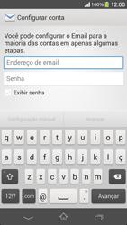 Como configurar seu celular para receber e enviar e-mails - Sony Xperia SP - Passo 5