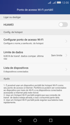 Como usar seu aparelho como um roteador de rede Wi-Fi - Huawei Y6 - Passo 5