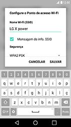 Como usar seu aparelho como um roteador de rede Wi-Fi - LG X Power - Passo 5