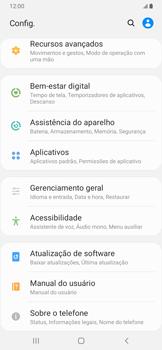 Como encontrar o número de IMEI do seu aparelho - Samsung Galaxy A20 - Passo 3