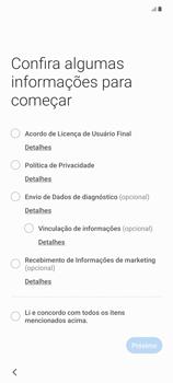 Como configurar pela primeira vez - Samsung Galaxy Note 20 5G - Passo 4