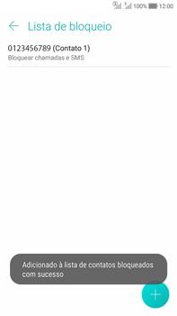 Como bloquear chamadas de um número específico - Asus Zenfone Selfie - Passo 12