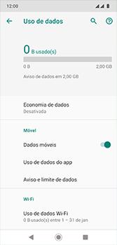 Como definir um aviso e limite de uso de dados - Motorola Moto G7 - Passo 5