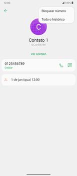 Como bloquear chamadas de um número específico - LG Velvet 5G - Passo 5