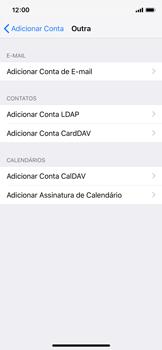 Como configurar seu celular para receber e enviar e-mails - Apple iPhone X - Passo 6