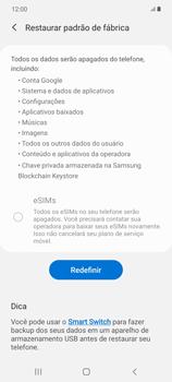 Como restaurar as configurações originais do seu aparelho - Samsung Galaxy Note 20 5G - Passo 7