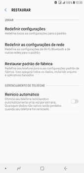 Como restaurar as configurações originais do seu aparelho - Samsung Galaxy J8 - Passo 6