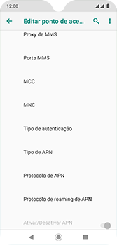 Como configurar a internet do seu aparelho (APN) - Motorola Moto G7 - Passo 14
